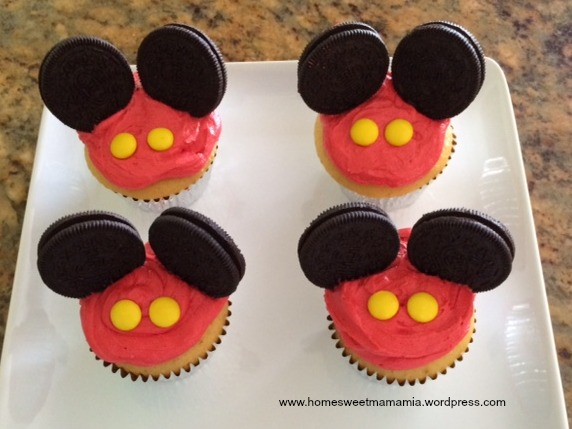 Disney Inspired Mickey and Minnie Mouse Cupcakes Home Sweet Mama Mia