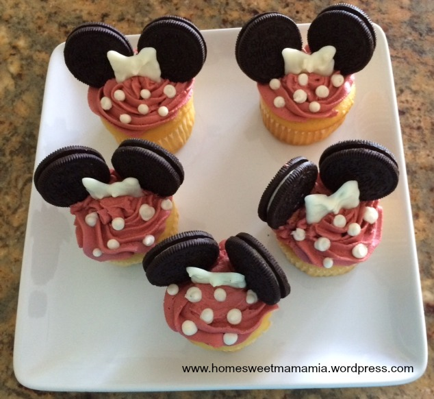 Disney Inspired: Mickey and Minnie Mouse Cupcakes – Home ...